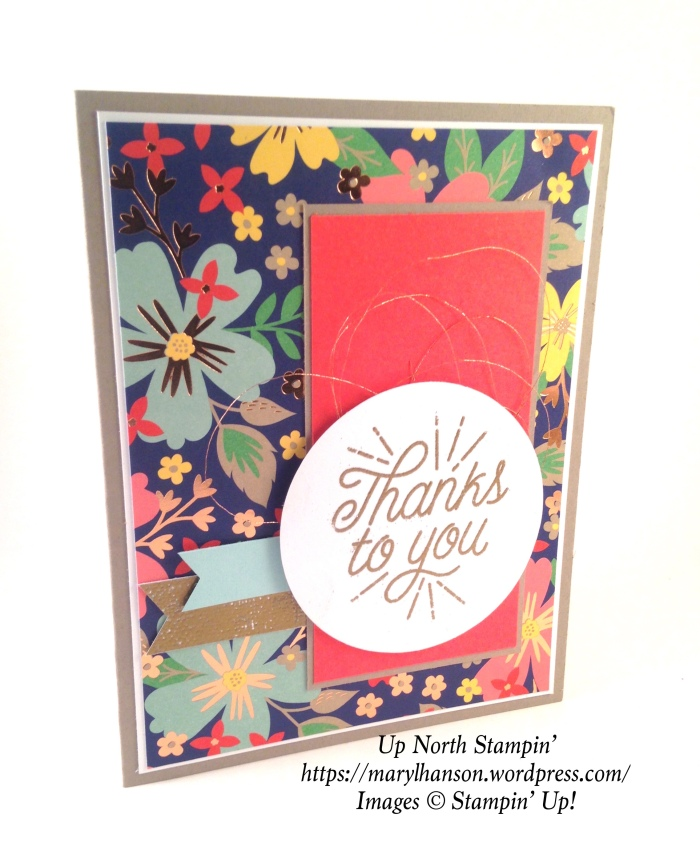 Affectionately Yours Tin of Cards Copper Embossing Up North Stampin