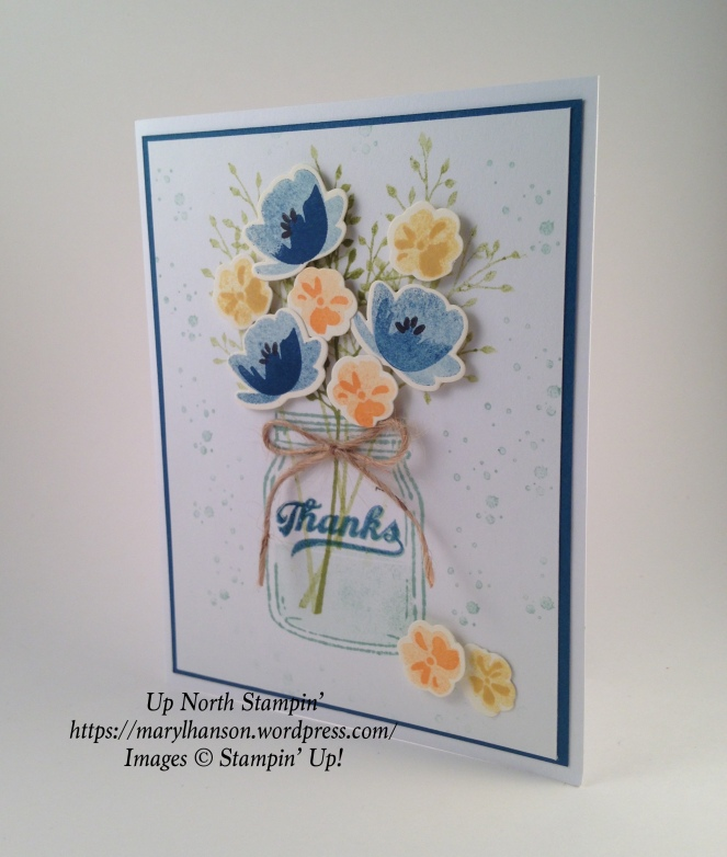 Jar of Love Thanks Dapper Denim Up North Stampin' Stampin Up