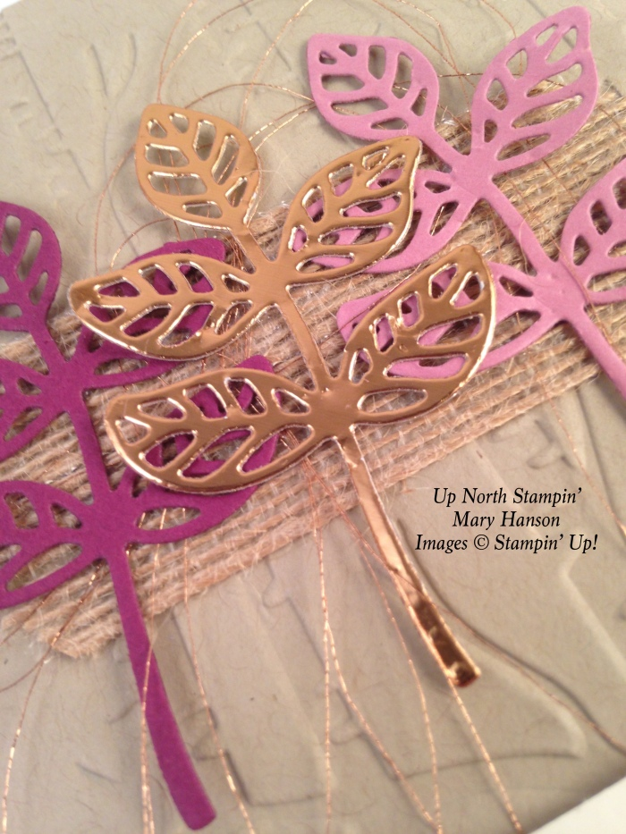 Close Up Copper Raspberry Flourishes Up North Stampin