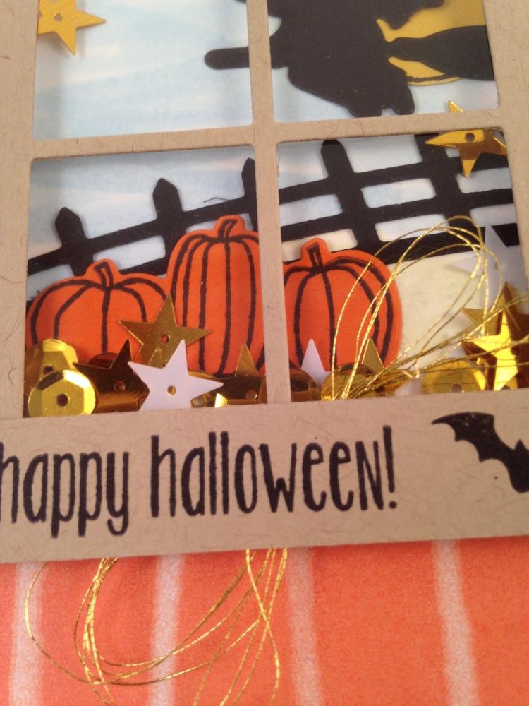 Close Up Halloween Window