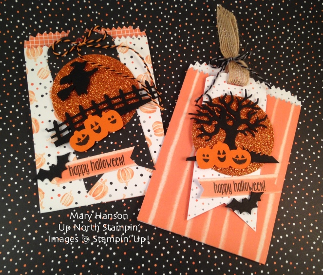 Halloween Treat Bags Spooky Fun Halloween Scenes Up North Stampin'