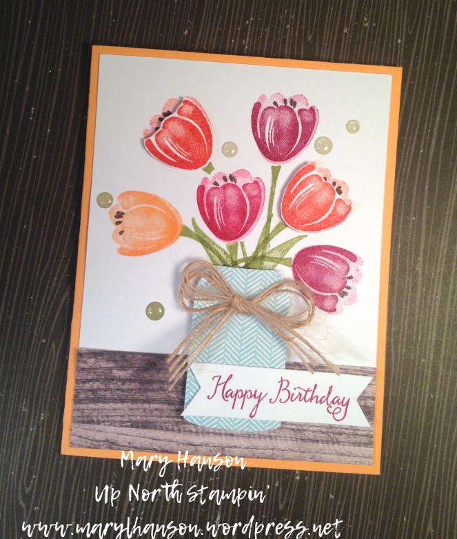 Tranquil Tulips Pick a B Flat Mary Hanson Up North Stampin'