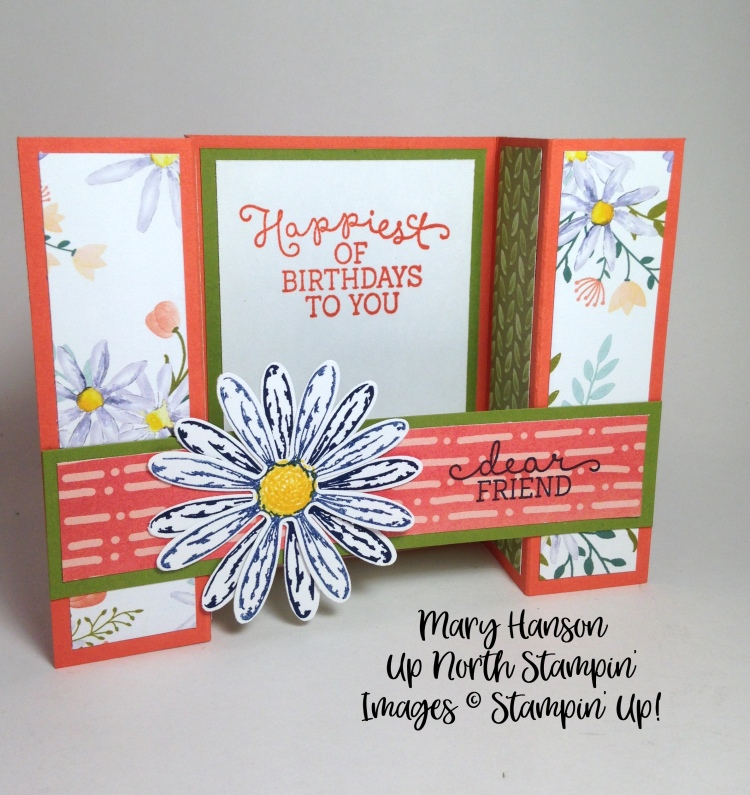 Daisy Bridge Fold Mary Hanson Up North Stampin