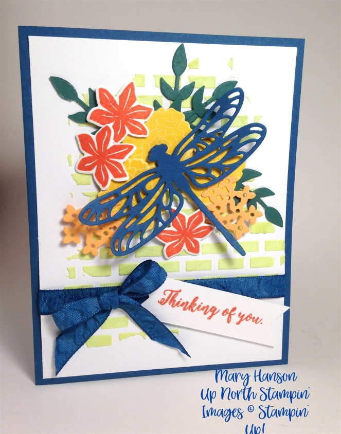 Detailed Dragonfly Embossing Paste Beautiful Bouquet Mary Hanson Up North Stampin'
