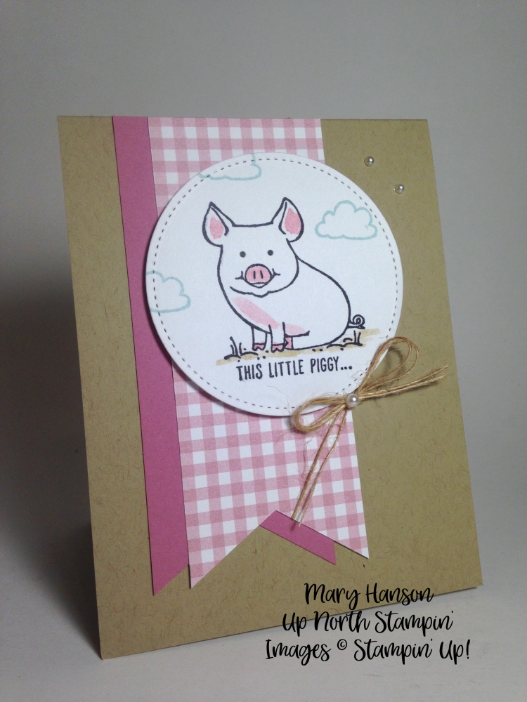 This Little Piggy Gingham Mary Hanson Up North Stampin