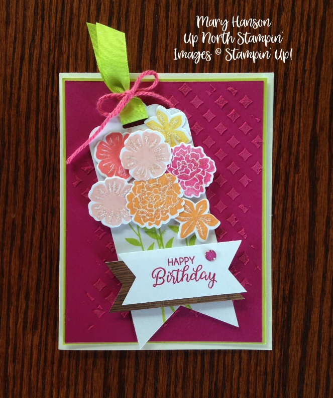 Final Stampin' Up! Beautiful Bouquet Embossing Paste Ideas - Mary Hanson, Up North Stampin' Stampinup