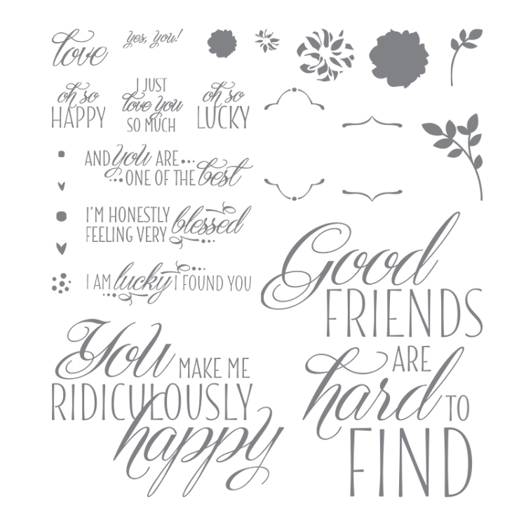 Lovely Friends stamp set