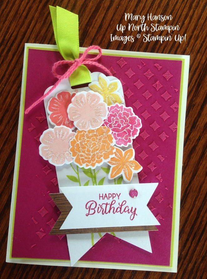 Stampin' Up! Beautiful Bouquet Bundle Embossing Paste Ideas - Mary Hanson, Up North Stampin' Stampinup