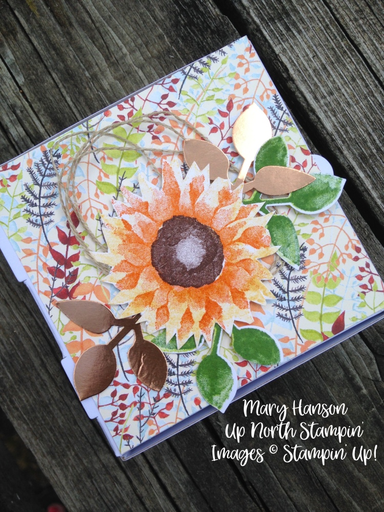 Stampin' Up! - Painted Harvest - Pizza Box 4 - Copper Foil - Ideas - Mary Hanson - Up North Stampin - Stampinup