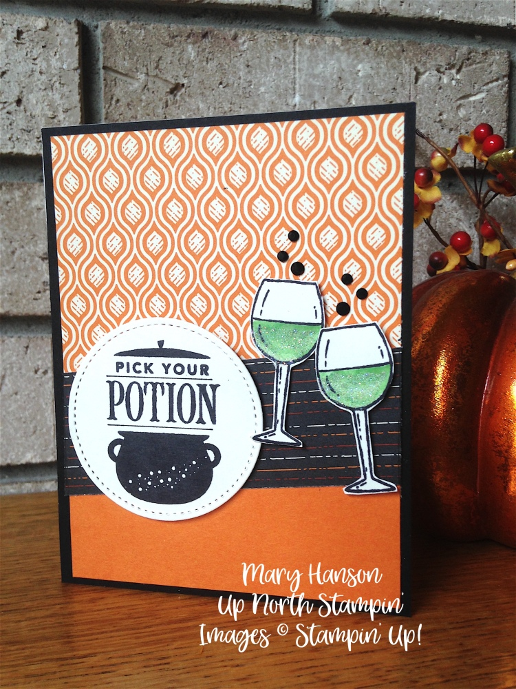Festive Phrases - Half Full - Stampin' Up! - Spooky Night - Mary Hanson - Up North Stampin' - Stampinup