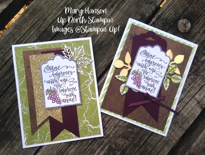 Half Full Mary Hanson Up North stampin'