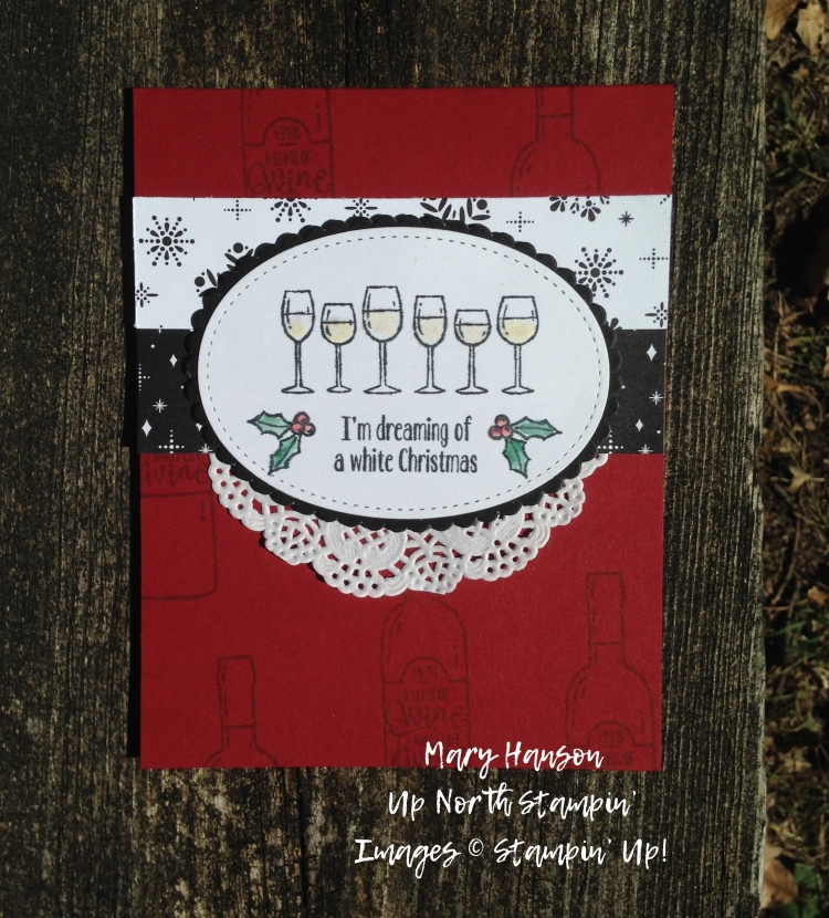 Half Full - Merry Little Christmas - Up North Stampin' - Mary Hanson