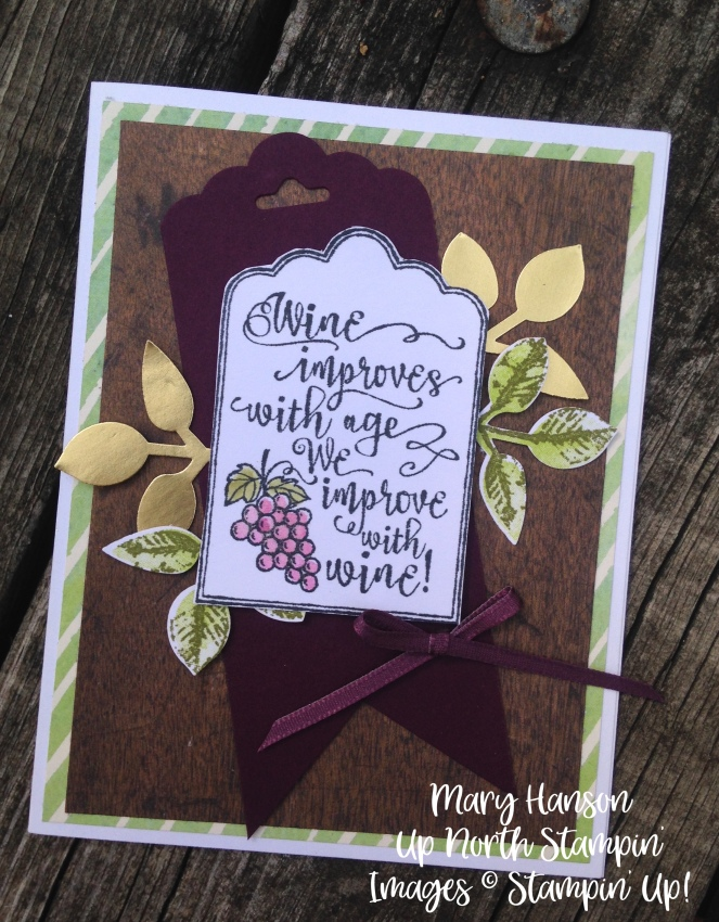 Stampin' Up! Half Full - Holiday Catalog - Gold Foil - Painted Harvest - Leaf Punch - Up North Stampin' - Stampinup