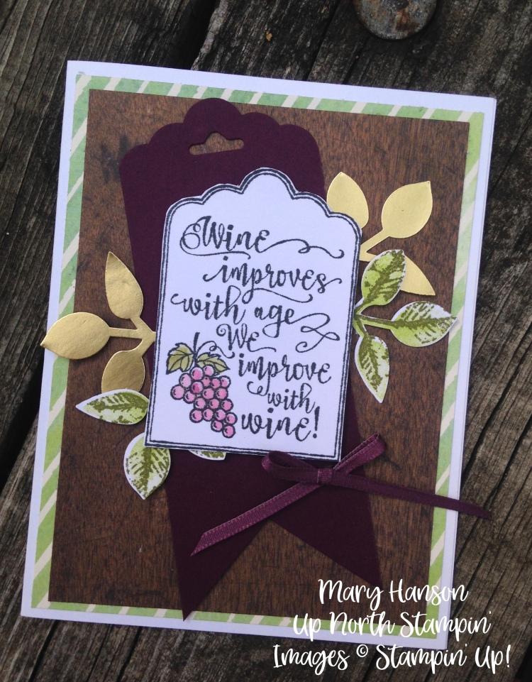 Stampin' Up! Half Full - Holiday Catalog - Gold Foil - Painted Harvest - Leaf Punch - Up North Stampin' - Stampinup