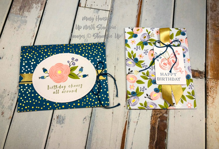 2 cards - Perennial Birthday - Mary Hanson - Up North Stampin'