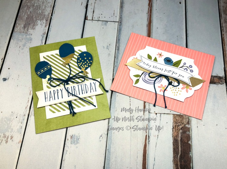 2 More Cards - Perennial Birthday - Mary Hanson - Up North Stampin'