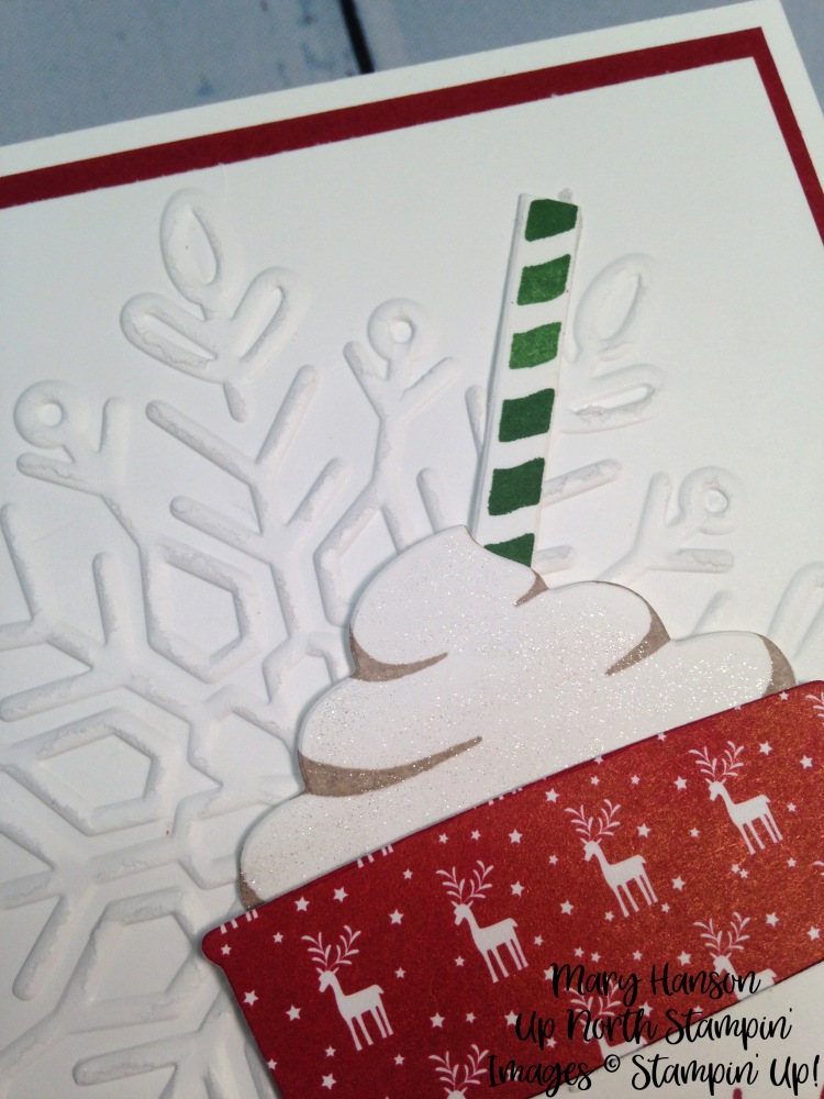 Close Up 1 Merry Cafe - Winter Wonder Textured Impressions Embossing Folder - Mary Hanson - Up North Stampin' - Stampin' Up!