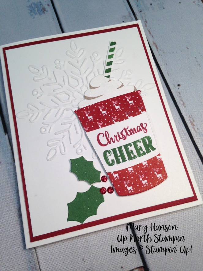 Merry Cafe - Winter Wonder Textured Impressions Embossing Folder - Mary Hanson - Up North Stampin'