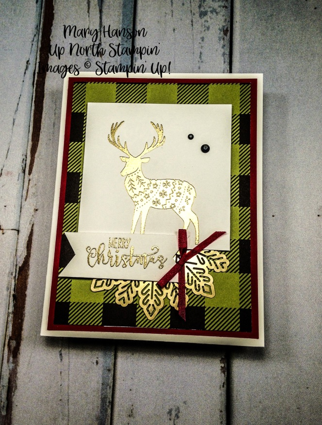 Merry Patterns - Half Full - Foil Snowflakes - Mary Hanson - Up North Stampin