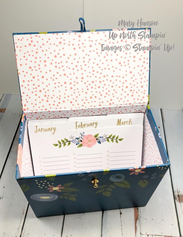 Perennial Birthday Open Box - Up North Stampin' - Mary Hanson