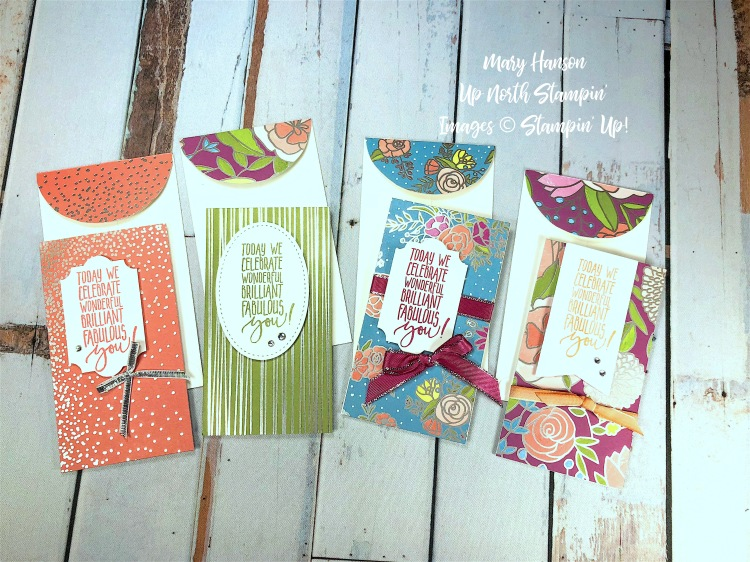 Narrow notecards - Sweet Soiree Designer Series Paper - Mary Hanson - Up North Stampin' -