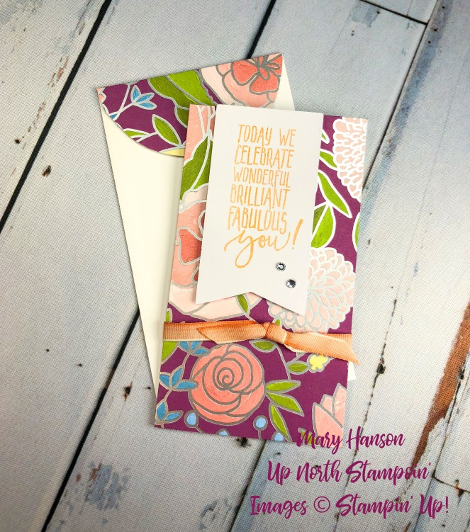 Sweet Soiree DSP 1 - Whisper White Narrow Notecards - Up North Stampin' - Mary Hanson