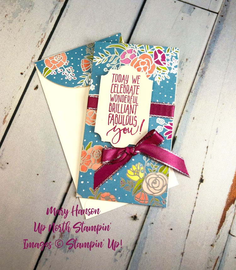Sweet Soiree DSP 2 - Whisper White Narrow Notecards - Up North Stampin' - Mary Hanson