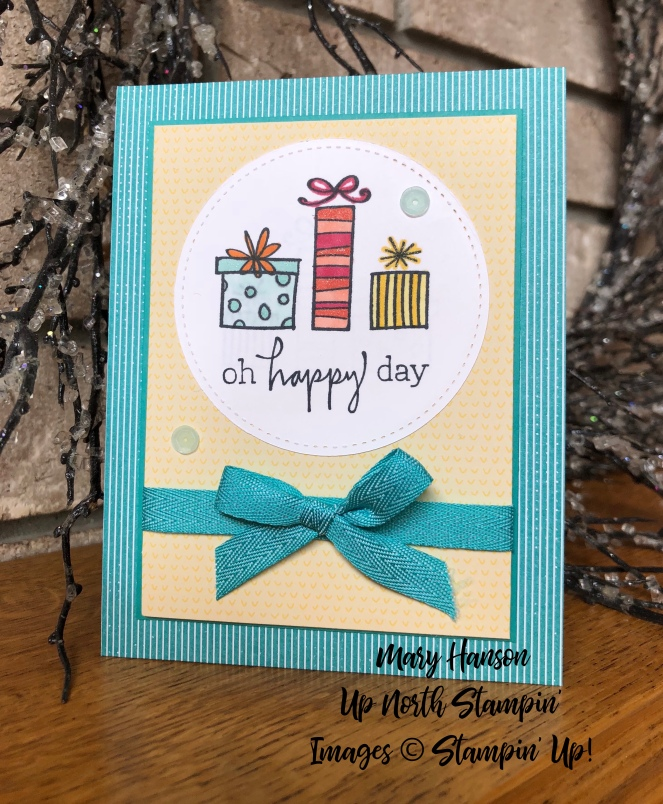 Happiest of Days - Bubbles & Fizz Designer Series Paper - Up North Stampin' - Mary Hanson - Stampin' Up!