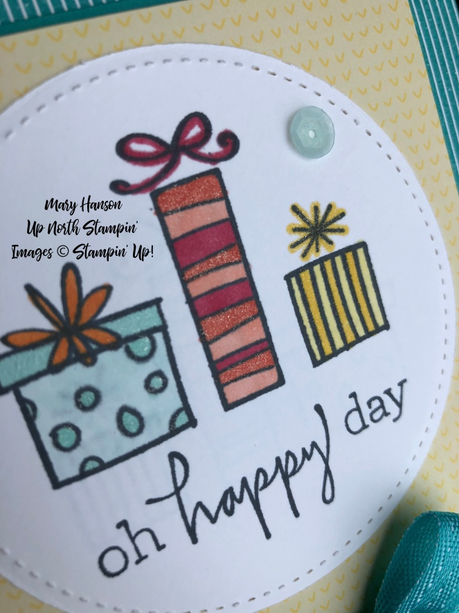 Happiest of Days - Close Up - Mary Hanson - Up North Stampin'
