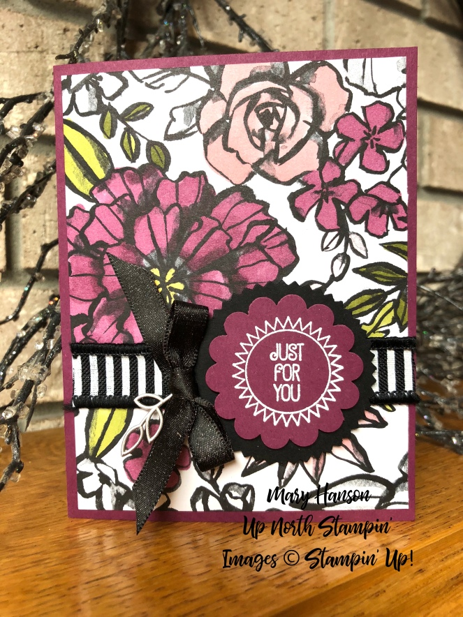 Petal Passion Designer Series Paper - Stampin' Blends - What a Day - Petal Passion Embellishments - Mary Hanson - Up North Stampin'