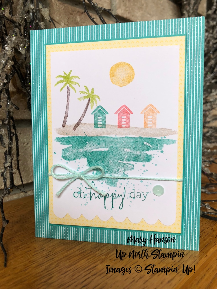 Waterfront - Beach - Bubbles and Fizz Designer Series Paper - Mary Hanson - Up North Stampin'