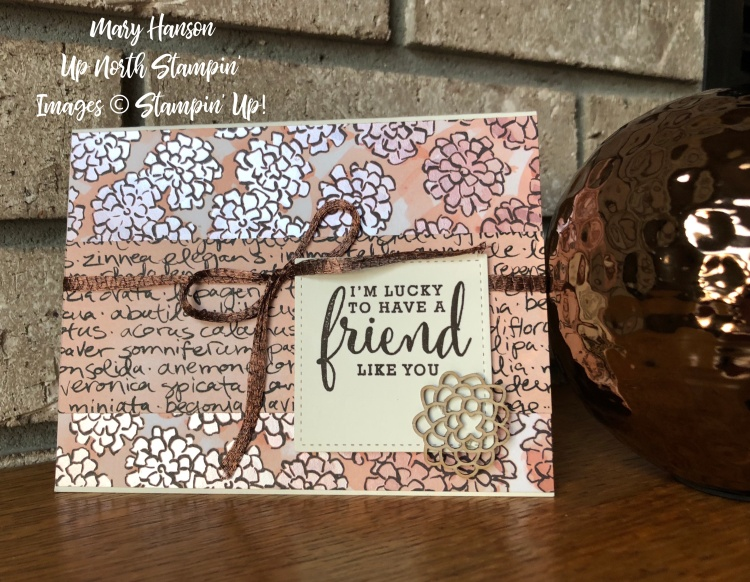 Share What You Love - Friend - Copper - Mary Hanson - Up North Stampin'