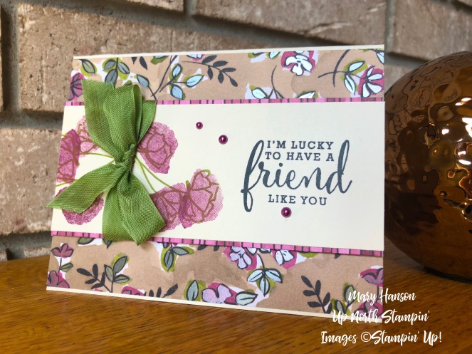 Share What You Love - Friend - Mary Hanson - Up North Stampin'