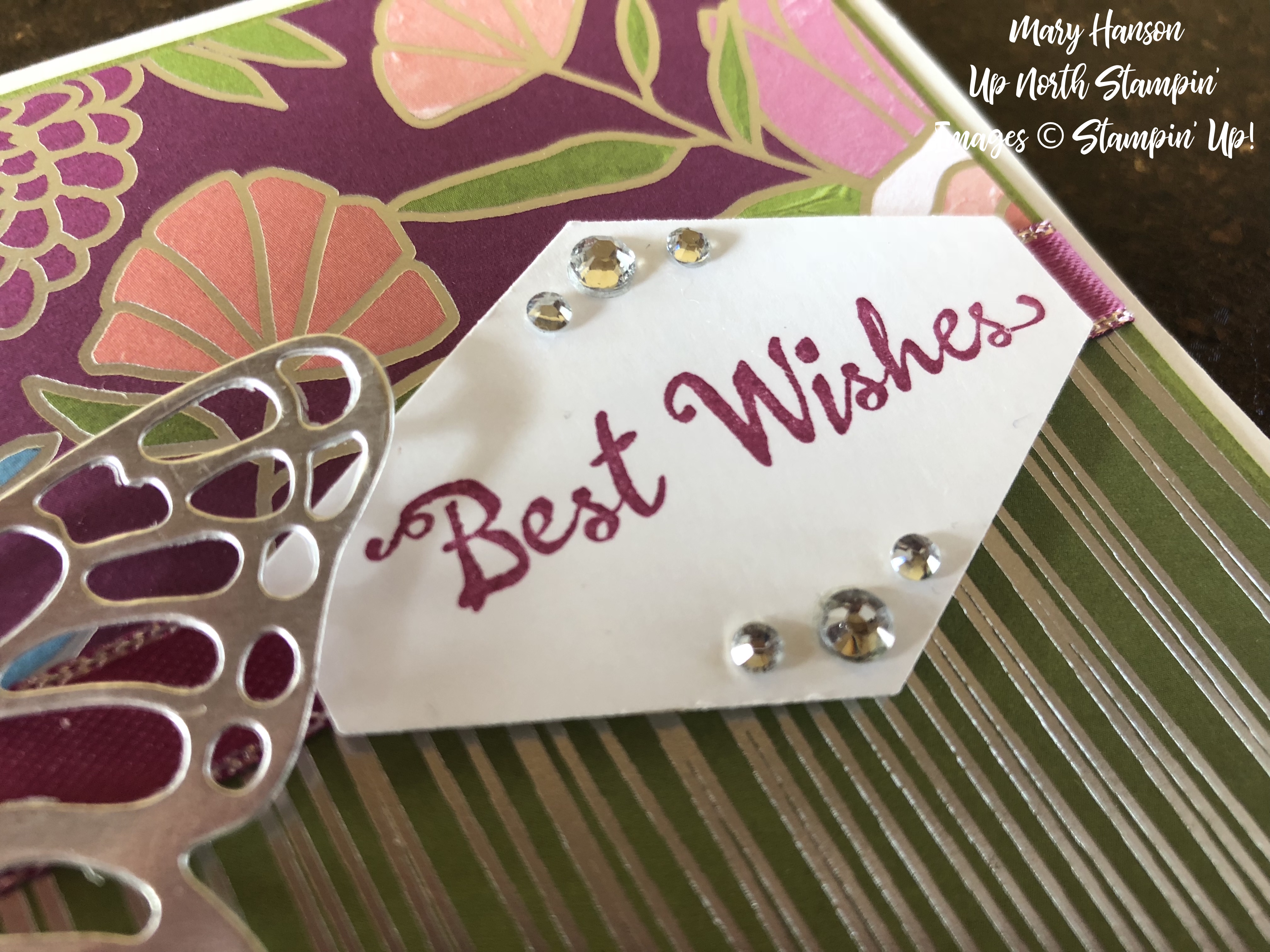 Sweet Soiree Designer Series Paper - Butterflies Thinlits Dies - Up North Stampin' - Mary Hanson