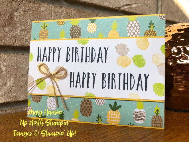 Tutti Frutti DSP - Perennial Birthday - Mary Hanson - Up North Stampin'