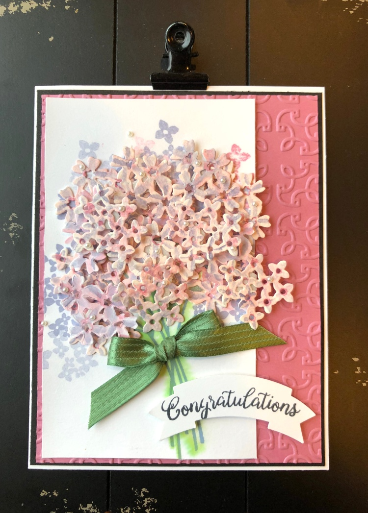 Beautiful Bouquet - Black background - Up North Stampin' - Mary Hanson