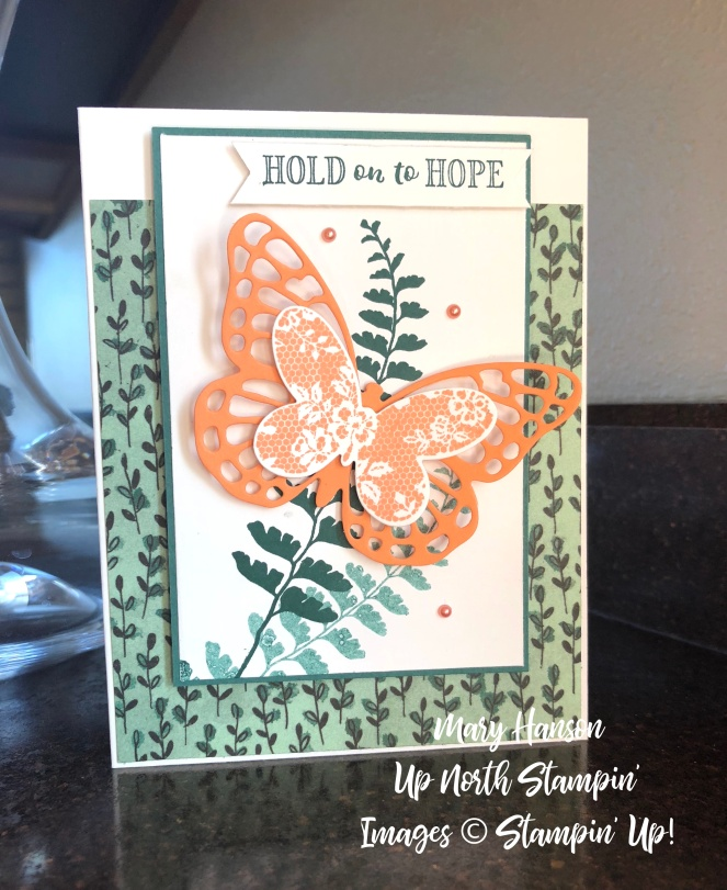 Butterfly Basics - Table View - Hold on to Hope - Share What you Love - Mary Hanson - Up North Stampin'