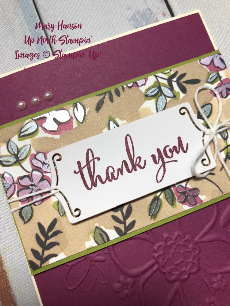 Lovey Floral Textured Impressions Embossing Folder - Close Up - Share What You Love Embellishment Kit - Mary Hanson - Up North Stampin'