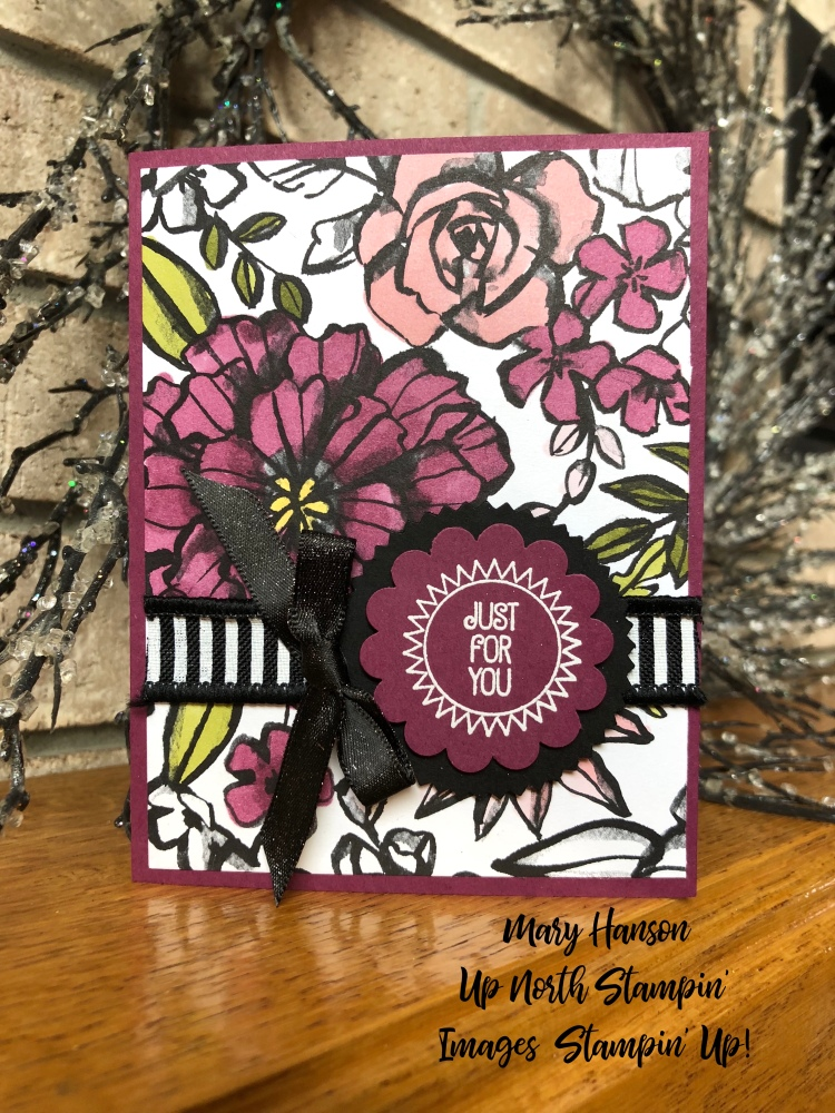 Petal Passion Designer Series Paper - Stampin' Blends - What a Day - Mary Hanson - Up North Stampin'