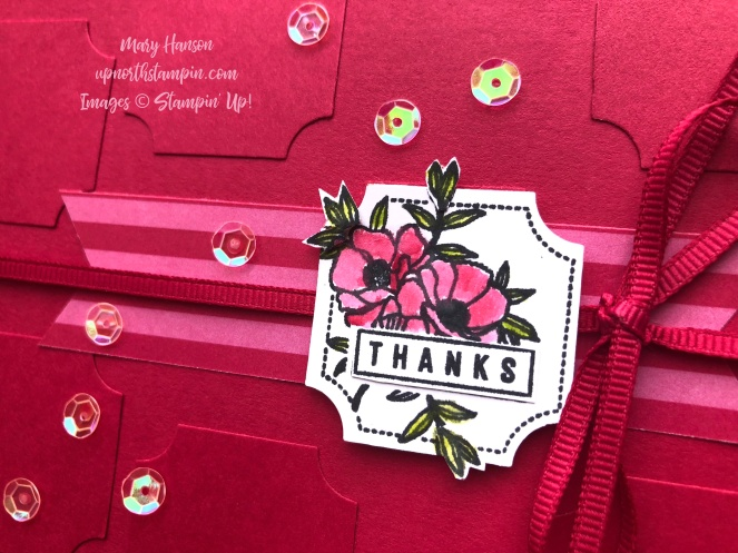 Darling Label Punch Box - Close Up - Lovely Lipstick - In Color 6 x 6 Designer Series Paper - Mary Hanson - Up North Stampin'