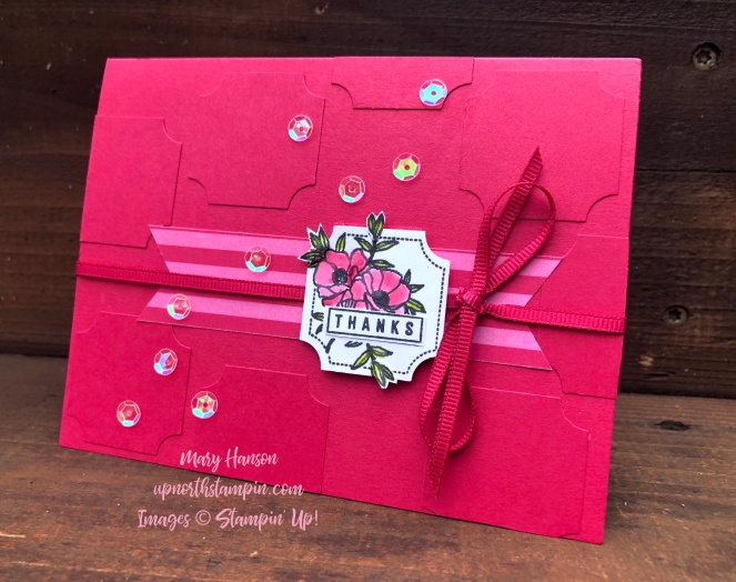 Darling Label Punch Box - Lovely Lipstick - In Color 6 x 6 Designer Series Paper - Mary Hanson - Up North Stampin - Stampin' Up!