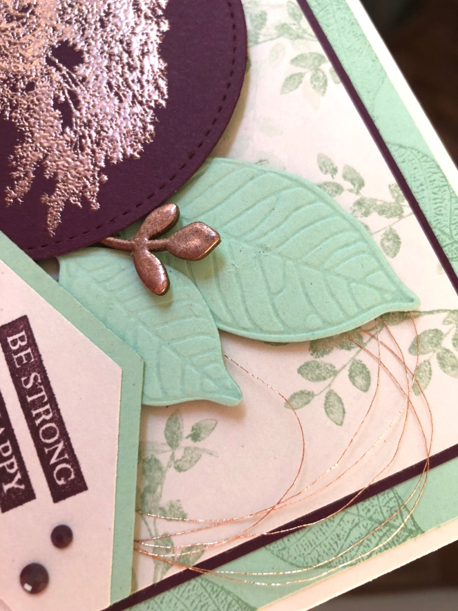 Nature's Roots Bundle - Close Up - Mint Macaron - Blackberry Bliss - Copper Embossing Powder - Mary Hanson - Up North Stampin'