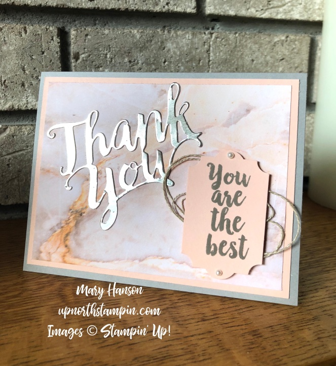 A Big Thank You 2 - Mary Hanson - Up North Stampin' - Stampin' Up!