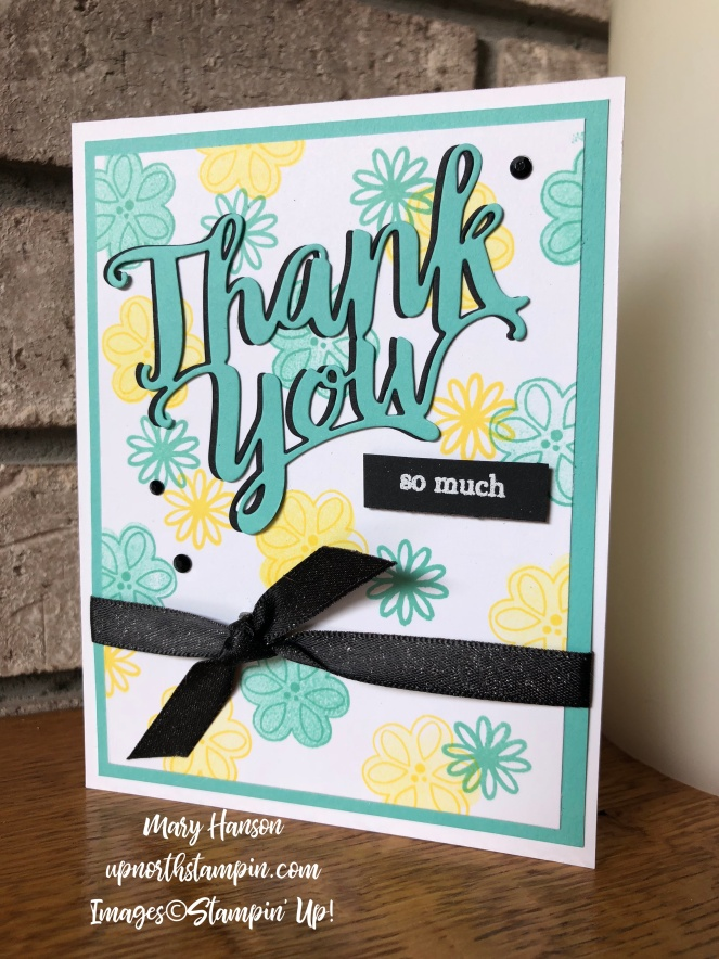 A big thank you - Coastal Cabana - Pineapple Puch - Mary Hanson - Up North Stampin'