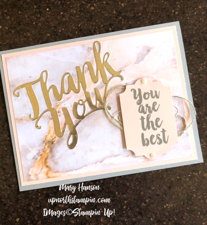 A Big Thanks 2 - Mary Hanson - Up North Stampin'