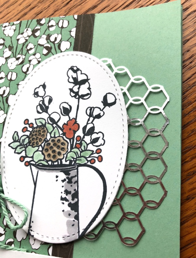 Close Up 2 - Country Lane - Mint Macaron - Chicken Wire Elements - Mary Hanson - Up North Stampin'