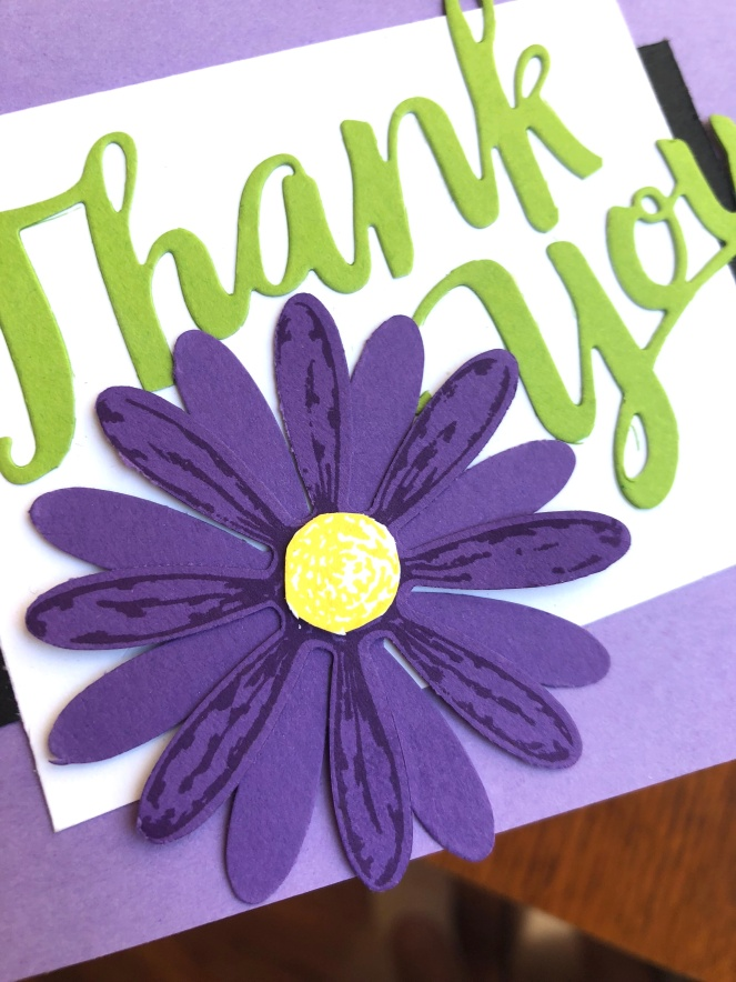 Close Up - A Big Thanks - Purples - Up North Stampin' - Mary Hanson