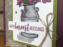 Close Up Country Home - Tin Tile Dynamic Textured Impressions Embossing Folder - Mary Hanson - Up North Stampin'