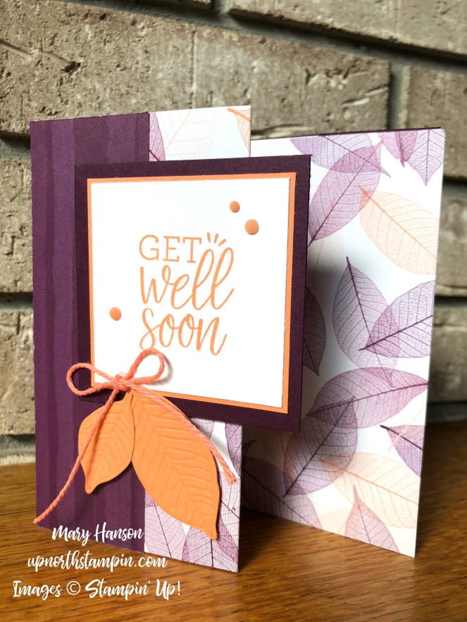 Healing Hugs - Rooted in Nature - Nature's Poem Designer Series Paper - Blackberry Bliss - Grapefruit Grove - Mary Hanson - Up North Stampin' - Stampin' Up!