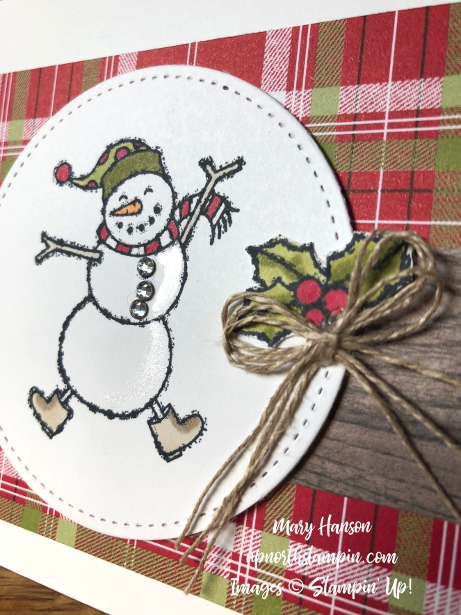 Spirited Snowmen THE Closeup - Under the Mistletoe - Linen Thread - Mary Hanson - Up North Stampin'
